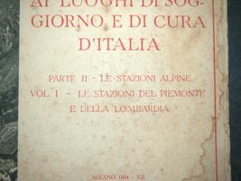 Antique Book 1934 Italy Spa Guide Part II Alpine Resorts Piemonte Photo Maps image 2