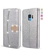 UEEBAI Wallet Flip Case for Huawei P20 Pro, Premium Glitter Glossy PU Le... - $11.14