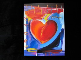 Peter Max Original Acrylic Painting HAND Painted & Signed HEART With COA - $2,295.00
