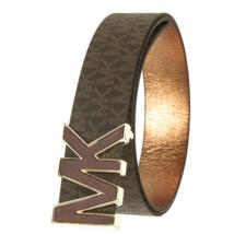 Michael Kors Women's Premium MK Logo Signature Plaque Faux Leather Belt 553504 image 8