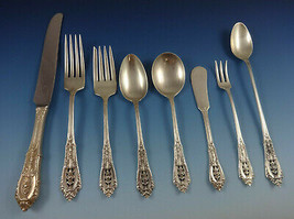 Rose Point by Wallace Sterling Silver Flatware Set For 8 Service 75 Pieces - $4,500.00