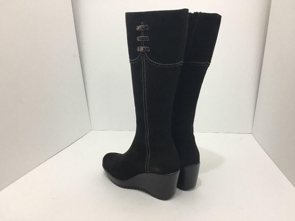 La Canadienne Galaxy Brown Suede Women's Knee High Platform Wedge Heel Boots 5 M image 11