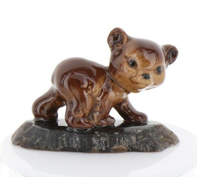 Hagen Renaker Miniature Baby Bear Cub Walking on Base Stepping Stones #2758
