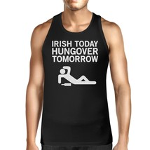 Irish Today Hungover Tomorrow Men's Black Graphic Cotton Tank Top - $14.99+