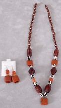 Beautiful Unique Handmade Red Jasper Necklace and Earring Set - $35.00