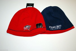 Columbus Blue Jackets Reebok Nhl Licensed Reversible Knit Hockey BEANIE/HAT - $16.14