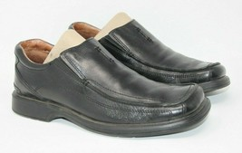 Clarks Size 8.5 M Black Leather Square Apron Toe Slip On Casual Shoes 78340 image 1