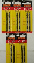 "Irwin 10766-2 4"" x 6tpi HCS T Shank Jig Saw Blades For Wood-Plastic 5-2p... - $4.95"