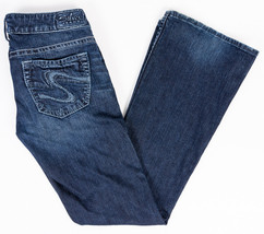 "Silver Tuesday 20"" Bootcut Womens Jeans Dark Wash Size 28/33 - $26.43"