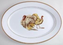 "William's Sonoma 19"" Oval Serving Platter Estate Turkey Used Once - $99.99"