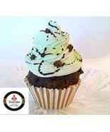 Dezicakes Mint Chocolate Chip Cupcake Faux Cupcake Fake Food Display - $4.46