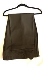 Zanella Wool Pants Brown 36 X 24 Pleated Cuffed Mens - $40.54