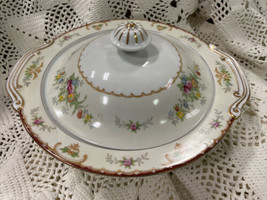 """Japan KONGO CHINA Hand Painted Covered 10"""" Casserole Serving Bowl  - Floral - $57.09"""