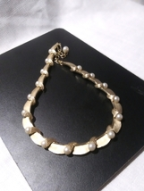 1960's Vintage Trifari Gold tone and Faux Pearl Choker - $54.00