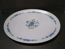 Elite Creation Fine China of Japan Blue Brocade Pattern Oval Serving Pla... - $34.64