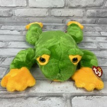 Retired Ty Smoochy The Frog B EAN Ie Buddy Green 1998 14 Inches - $15.36