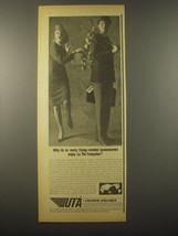 1965 UTA Airlines Ad - Why do so many flying-minded businessmen enjoy - $14.99