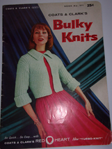 Coats & Clark's Bulky Knits 15 Projects 1956 - $3.99