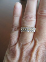 Vintage 80's 14k Solid Yellow Gold White Sparkl... - $75.00