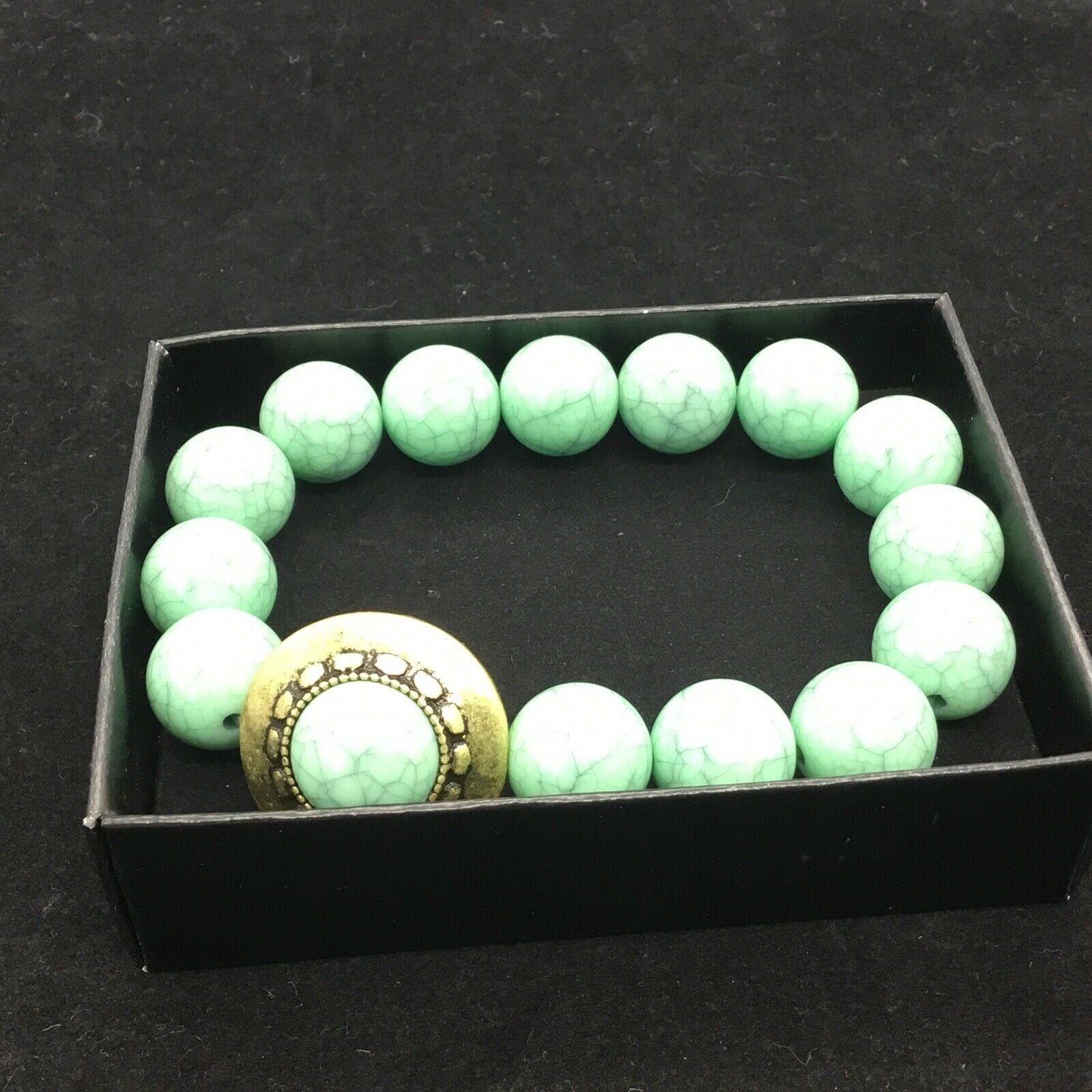 Womens Avon Tangier Market Stretch Bracelet F3930171 Green Fashion Jewelry NEW