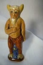 Vaillancourt Folk Art, Tiny Santa in Krampus costume Halloween  signed by Judi image 1