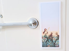 Mermaids at Sea Magnetic Notepad, 50 Sheets, Vintage Inspired image 3