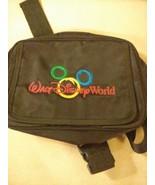 WALT DISNEY WORLD Mickey Mouse Fanny Pack Belt Bag Black Canvas Zip Up P... - $19.75