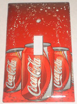 Coke Coca-Cola 12oz Can Toggle Rocker Light Switch Outlet wall Cover Plate decor