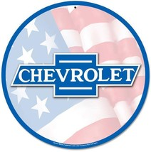 "Chevrolet 14"" Round Metal Sign - $29.95"