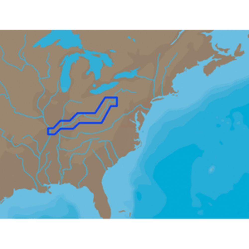 C-MAP NT+ NA-C039 - Ohio River Cairo Pittsburgh - C-Card