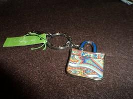 Vera Bradley Marina Paisley Tote Around keychain NWT - $13.00