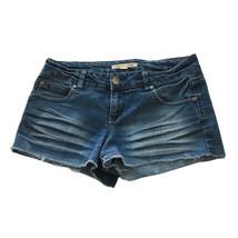 Womens Forever 21 Size 28 Cut Off Denim Shorts Low Rise Midwash Jean - $3.95