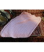 BEAUTIFUL HANDMADE CROCHET BABY BLANKET/AFGHAN - PINK - $17.63