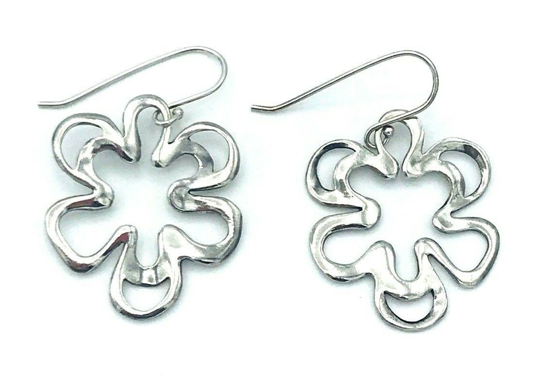 Primary image for Silpada Sterling Silver 925 Open Work Pansy Flower Earrings