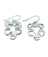 Silpada Sterling Silver 925 Open Work Pansy Flower Earrings - $47.52