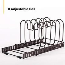 11+Lids - BBLHOME 12 Adjustable Expandable Compartments Cookware Holder ... - $21.57