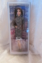 the BARBIE LOOK CITY SHINE metallic long sleeved dress, long blackl hair... - $42.08