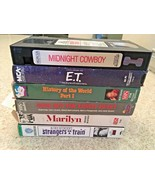 Lot Of Six Vintage VHS Tapes Including Midnight Cowboy, E.T., Monkey Bus... - $18.70