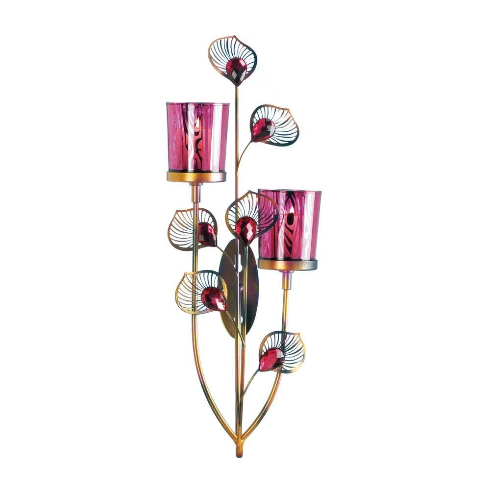 Sconce, Mountable Wall Sconces Glass And Iron For Bedroom - 2-light Votive