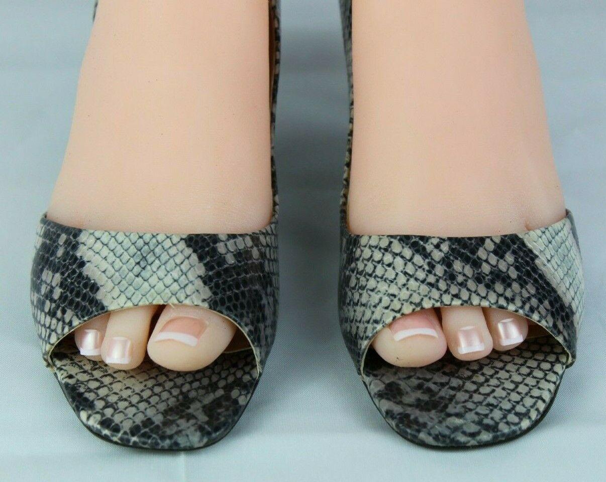 Franco Sarto L Dash Femmes M Talons Ouvert Orteil Animal Imprimé Chaussures 8.5M image 4