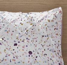 Intelligent Design Abby Metallic Printed and Pintucked Duvet Cover Set Plum Full image 7