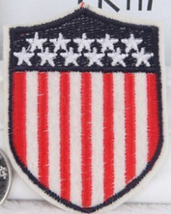US Flag Emblem Outlaw Bike Rider Embroidered Patch Size 2 x 2 1/2""