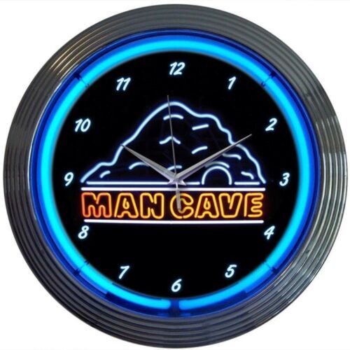 "Primary image for Mancave Neon Clock 15""x15"""
