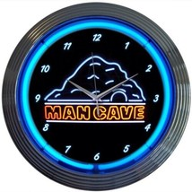 "Mancave Neon Clock 15""x15"" - $59.00"