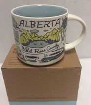 Starbucks Alberta Coffee Mug Been There Canadian Badlands Wild Rose Country - $56.09