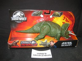 Jurassic World Dino Rivals Dual Attack Triceratops Tail Strike Mattel Ac... - $32.28
