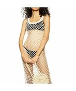 Women's Cream Topshop Crochet Cover-Up Dress, Size 12 - $57.09