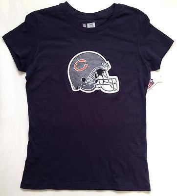 NWT NFL Chicago Bears Women's T-Shirt Size LARGE Glitter Helmet
