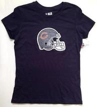 NWT NFL Chicago Bears Women's T-Shirt Size LARGE Glitter Helmet - $18.69