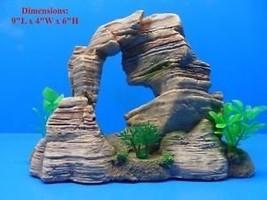 Mountain Rock Cliff w/ CAVES & Plants Hiding Places Aquarium Ornament - $16.99